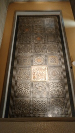 One of many beautiful mosaics viewable from the floor above