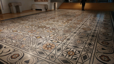 A large walkable mosaic!