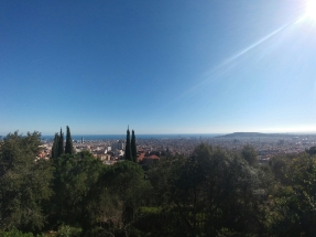 View from behind Parc Guell