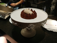 Tickets chocolate cake