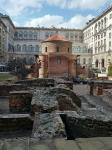 Ancient church and ruins of Constantine palace