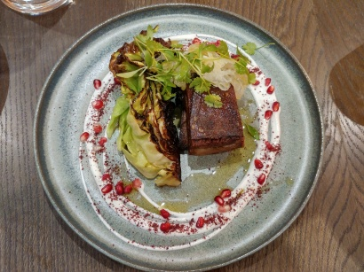Crispy lamb belly with sumac yoghurt and pomegranate